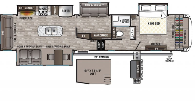 2021 FOREST RIVER CEDAR CREEK SILVERBACK EDITION 37MBH Floorplan