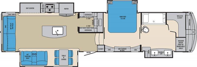2021 PALOMINO COLUMBUS COMPASS 382FBC Floorplan