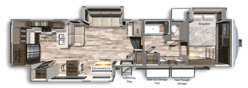 2021 DUTCHMEN YUKON 399ML Floorplan