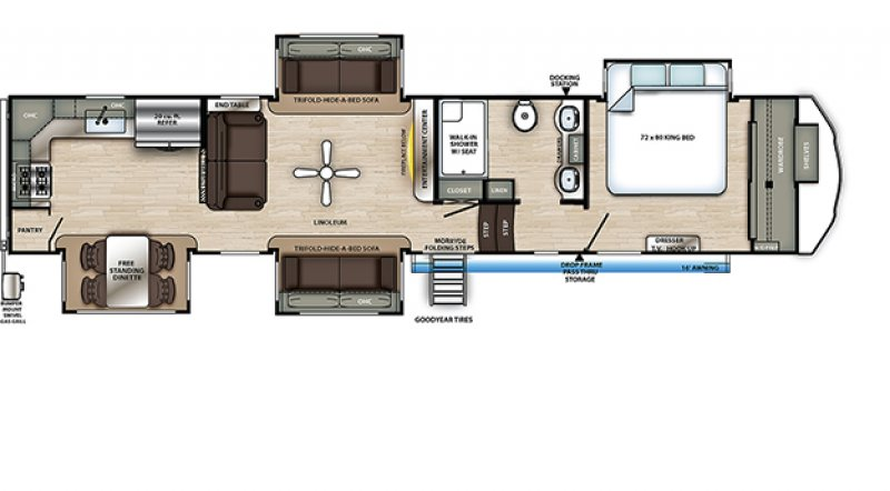 2021 FOREST RIVER SANDPIPER 39BARK Floorplan