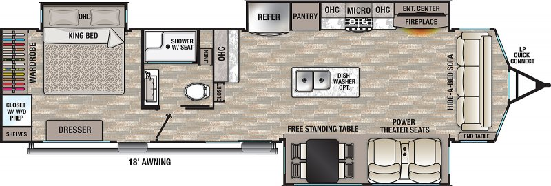 2021 FOREST RIVER CEDAR CREEK COTTAGE 40CCK Floorplan