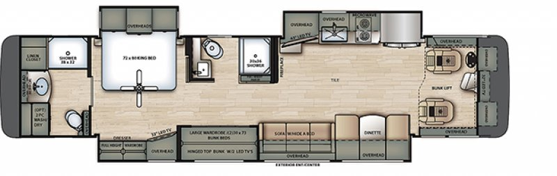 2021 FOREST RIVER BERKSHIRE XL 40E Floorplan