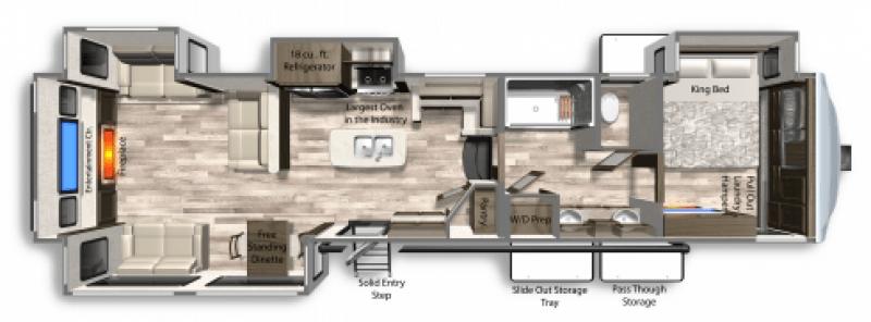 2021 DUTCHMEN YUKON 410RD Floorplan