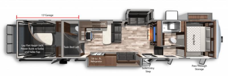 2021 DUTCHMEN VOLTAGE 4195 Floorplan
