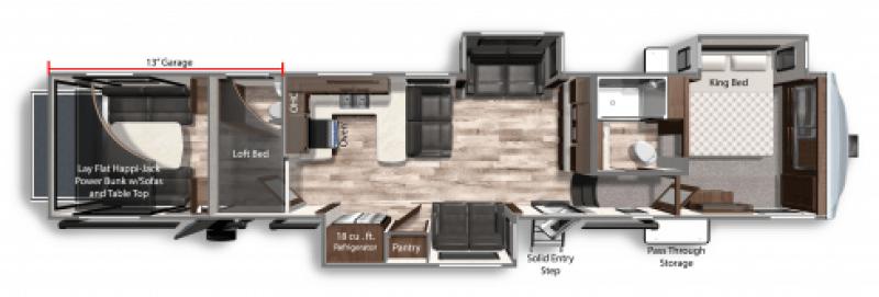2021 DUTCHMEN VOLTAGE 4225 Floorplan