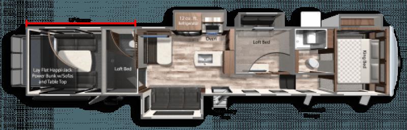 2021 DUTCHMEN VOLTAGE TRITON 4271 Floorplan