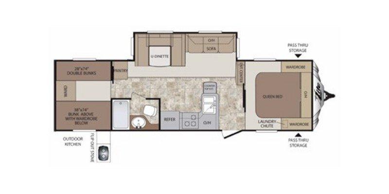 2014 KEYSTONE COUGAR XLITE 29RBK Floorplan