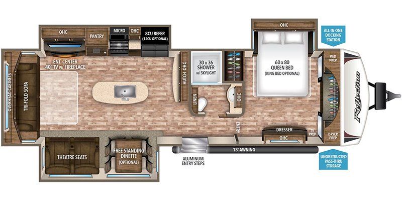 2017 GRAND DESIGN REFLECTION 315RLTS Floorplan