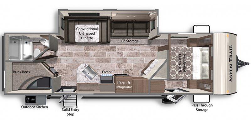 2022 DUTCHMEN ASPEN TRAIL 2850BHS Floorplan