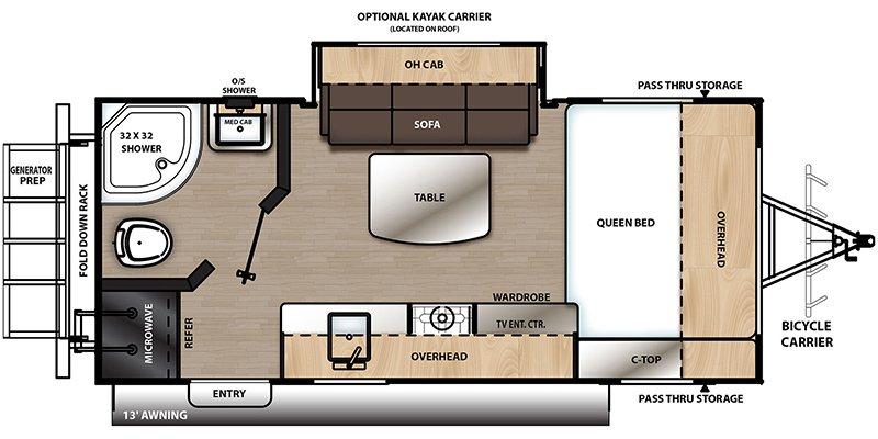 2021 COACHMEN CATALINA EXPEDITION 192FQS Floorplan