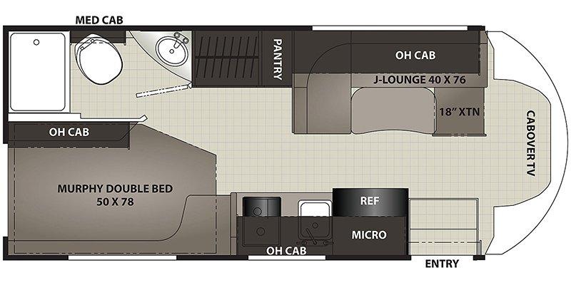 2022 COACHMEN CROSS TRAIL 21XG Floorplan