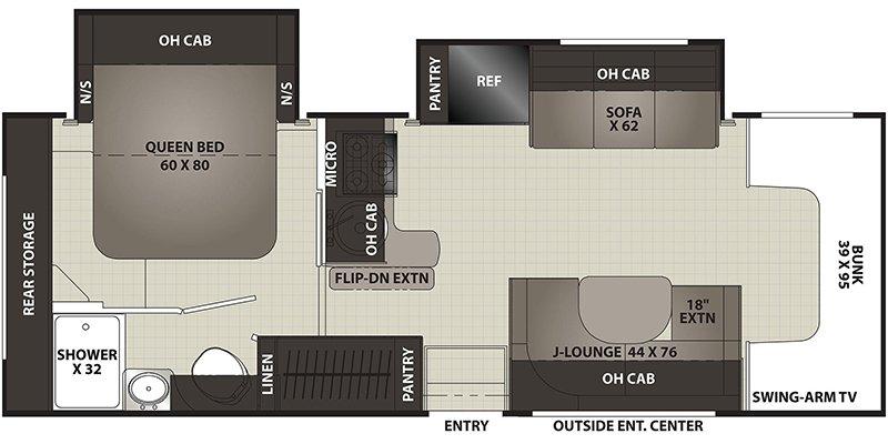 2022 COACHMEN CROSS TRAIL 26XG Floorplan
