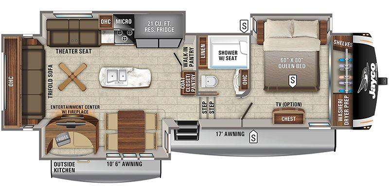 2022 JAYCO EAGLE 317RLOK Floorplan