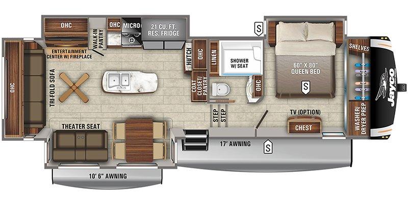 2022 JAYCO EAGLE 321RSTS Floorplan