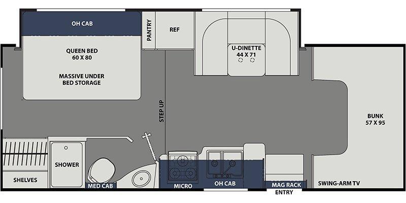 2021 COACHMEN FREELANDER 23FS Floorplan