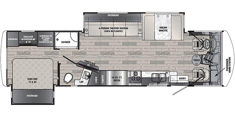 2022 FOREST RIVER GEORGETOWN 5 SERIES GT5 31L5 Floorplan