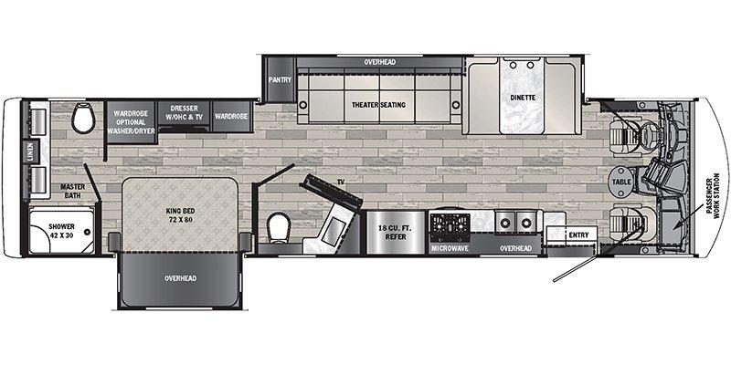 2022 FOREST RIVER GEORGETOWN 7 SERIES GT7 36D7 Floorplan