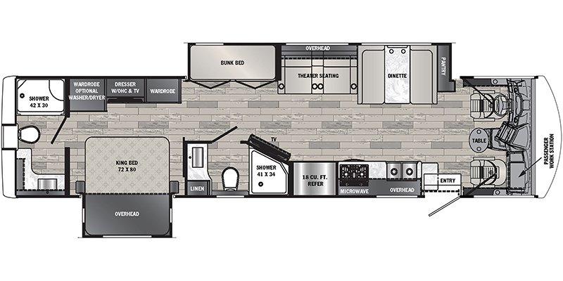 2021 FOREST RIVER GEORGETOWN 7 SERIES GT7 36K7 Floorplan