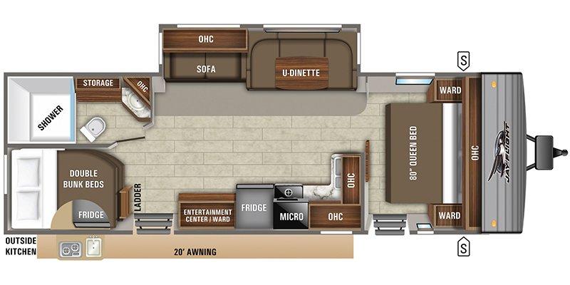 2022 JAYCO JAY FLIGHT 28BHS Floorplan