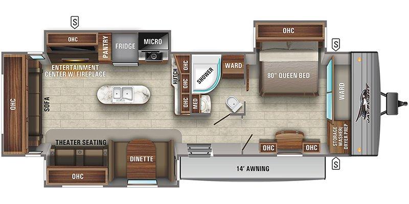 2022 JAYCO JAY FLIGHT 34RSBS Floorplan