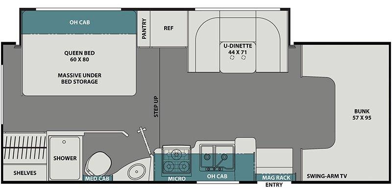 2022 COACHMEN LEPRECHAUN 230FS Floorplan