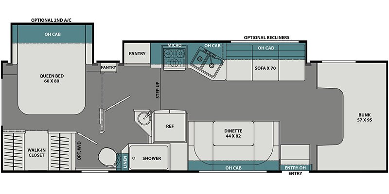 2022 COACHMEN LEPRECHAUN PREMIER 311FS Floorplan