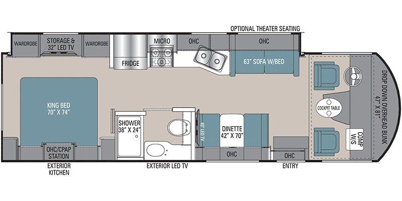 2022 COACHMEN MIRADA 29FW Floorplan