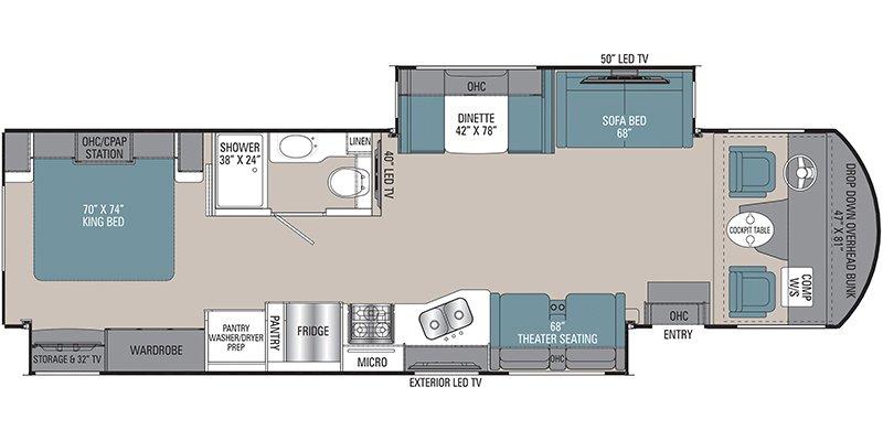 2022 COACHMEN MIRADA 35OS Floorplan
