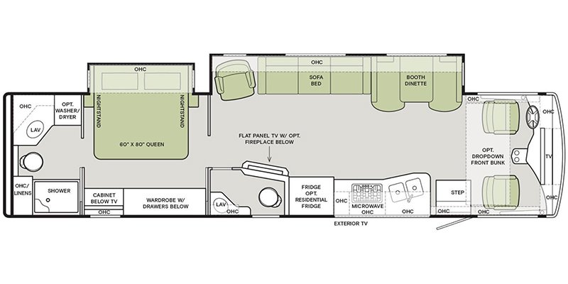 2022 TIFFIN OPEN ROAD ALLEGRO 36LA Floorplan