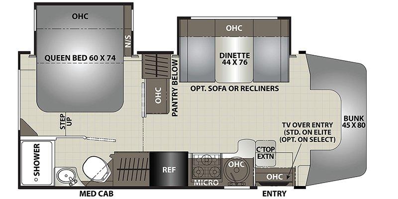 2022 COACHMEN PRISM SELECT 24DS Floorplan