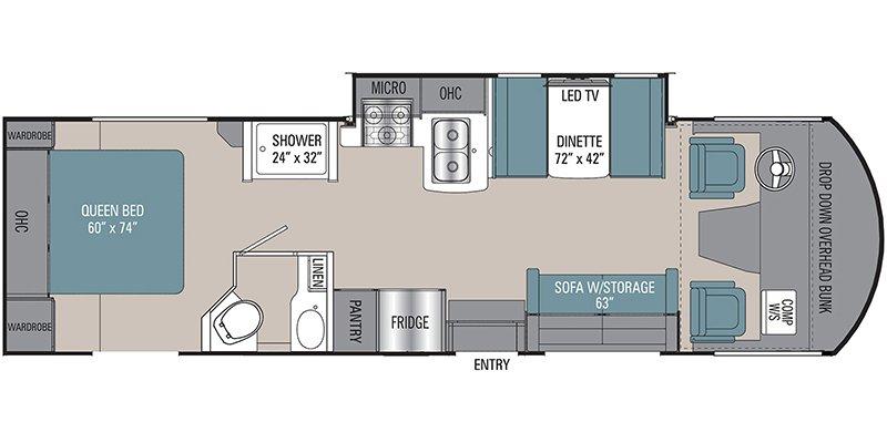 2022 COACHMEN PURSUIT 29XPS Floorplan