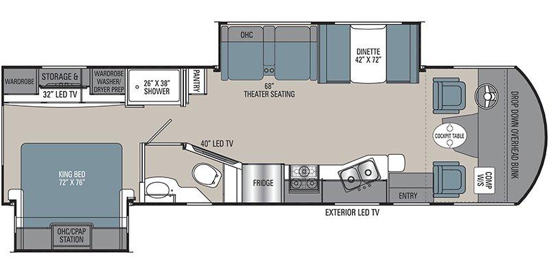 2022 COACHMEN PURSUIT 31TS Floorplan