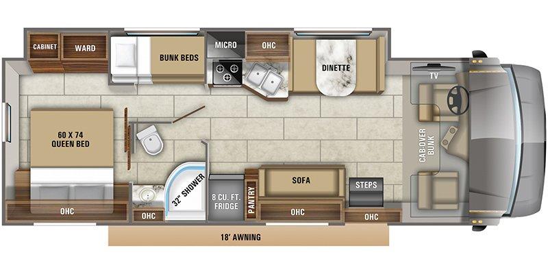 2022 JAYCO REDHAWK 31F Floorplan