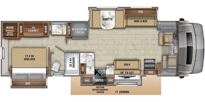 2022 JAYCO SENECA 37TS Floorplan