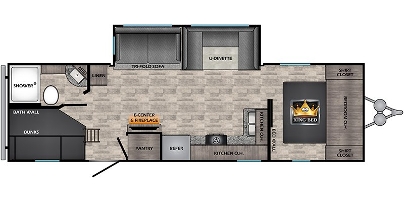 2022 CROSSROADS VOLANTE 28BH Floorplan