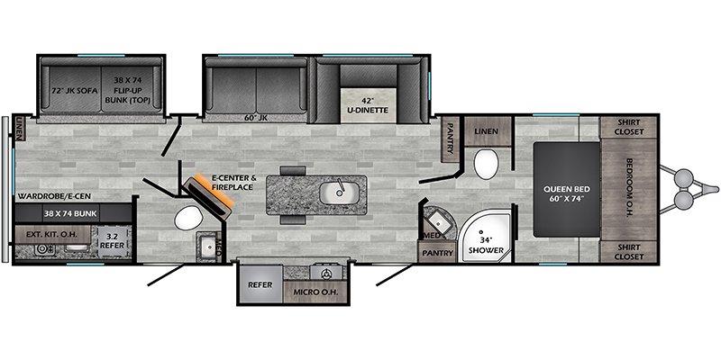 2021 CROSSROADS ZINGER 331BH Floorplan