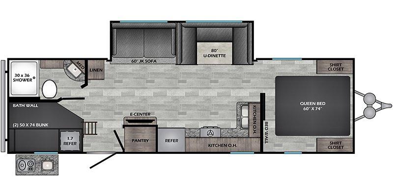 2022 CROSSROADS ZINGER 280BH Floorplan