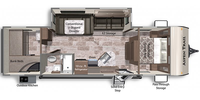 2022 DUTCHMEN ASPEN TRAIL 2910BHS Floorplan