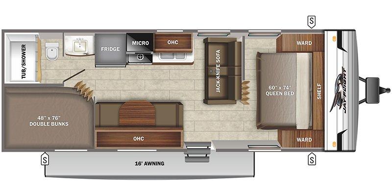 2022 JAYCO JAY FLIGHT SLX 8 264BH Floorplan