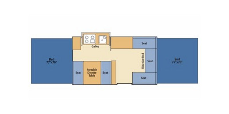 2008 FLEETWOOD AMERICANA SUN VALLEY 4291 Floorplan