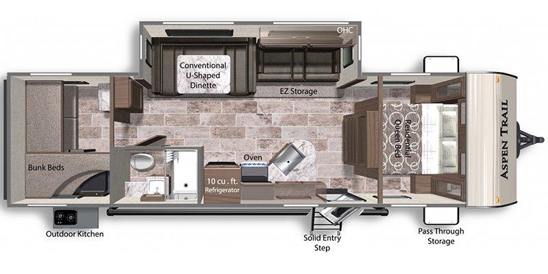 2021 DUTCHMEN ASPEN TRAIL 2910BHS Floorplan