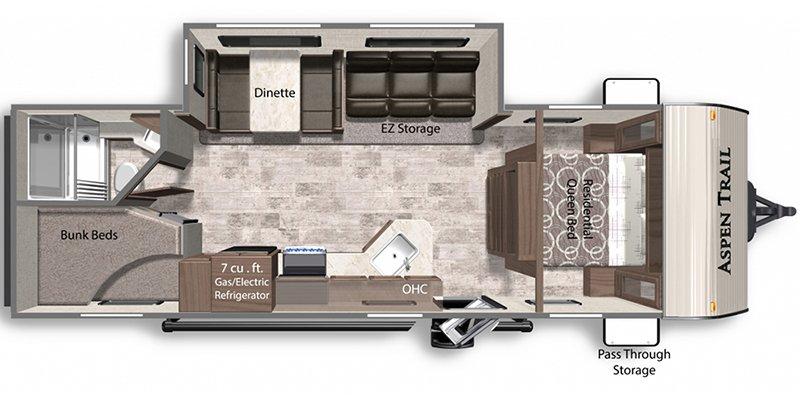 2021 DUTCHMEN ASPEN TRAIL LE 26BH Floorplan