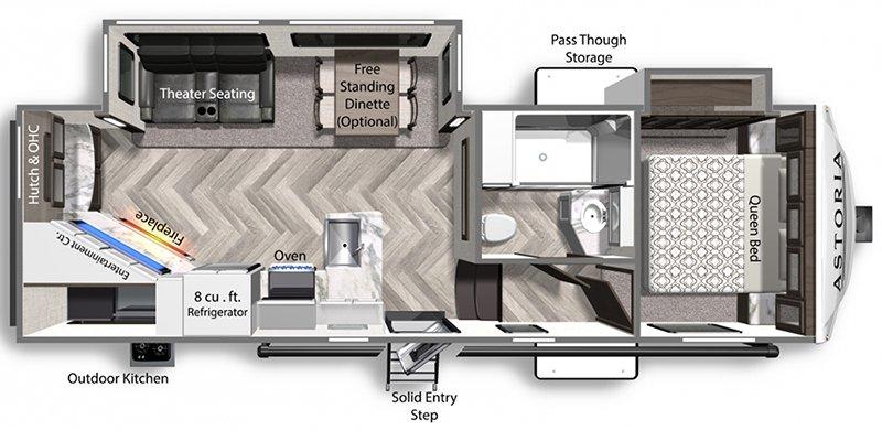 2021 DUTCHMEN ASTORIA 2503REF Floorplan