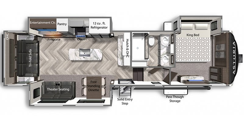 2021 DUTCHMEN ASTORIA 3173RLP Floorplan