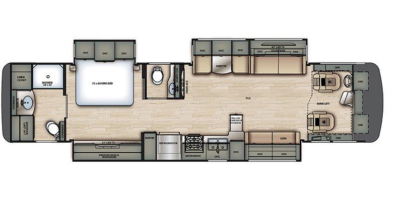2022 FOREST RIVER BERKSHIRE 39A Floorplan