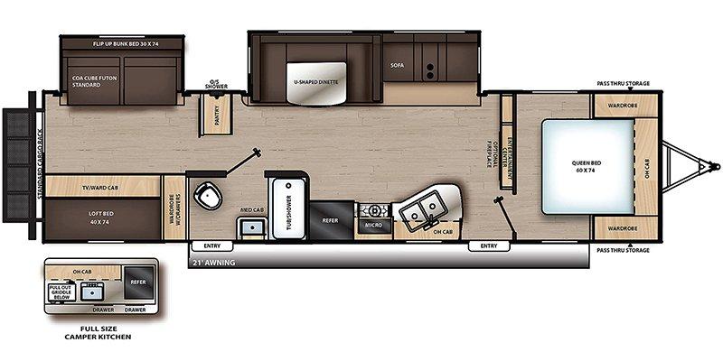 2022 COACHMEN CATALINA LEGACY 323BHDSCK Floorplan
