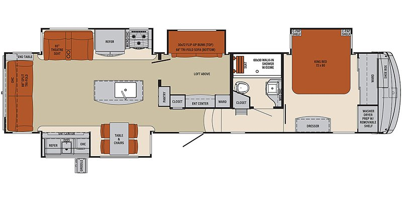 2021 PALOMINO COLUMBUS COMPASS 378MBC Floorplan