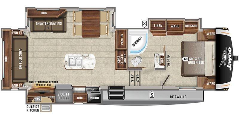 2021 JAYCO EAGLE HT 28.5RSTS Floorplan