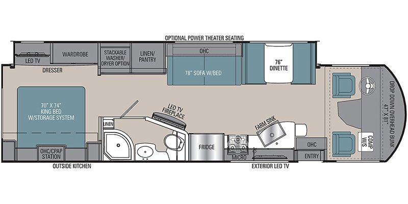 2022 COACHMEN ENCORE 325SS Floorplan
