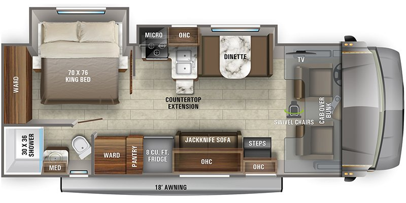 2022 JAYCO GREYHAWK 27U Floorplan